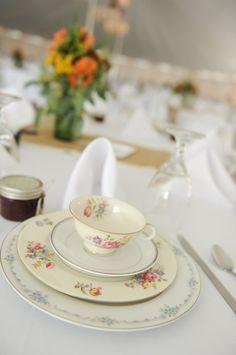TheWedding: Wedding China Place Settings, vintage, mismatched.