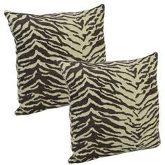 Klear Vu Animal Skins 18-Inch Square Throw Pillow in Tiger Godiva (Set of 2)
