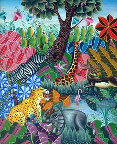 Jacques Philemond.  I love Haitian art - here's a great gallery:  http://www.haitianpaintings.com