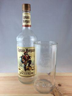 Captian Morgan Bottle Glass, ready for a tall boy. on Etsy, $10.00