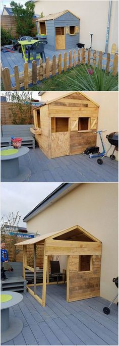 For a perfect play place for your kids in summer season designing the wood pallet house with deck and fence is perfect for you. This whole concept gives out such an interesting look. It is much simple in terms of designing which you can even finish off with own self help. You would love trying it for sure!