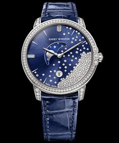 Master Horologer: Harry Winston - Avenue Classic Diamond Drops & Midnight Diamond Drops 39 Mm