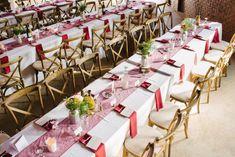 Long Tables For A Barn Wedding