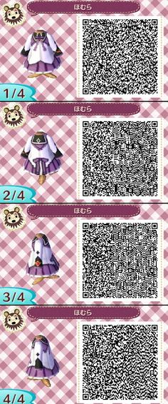 Animal Crossing New Leaf QR codes dress