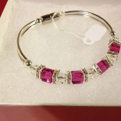 Handmade Sterling Silver And Swarovski Crystal Bracelet