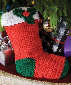 Häkle einen Strumpf für deine Weihnachtsdeko. Mit Liebe von Hand gemacht.