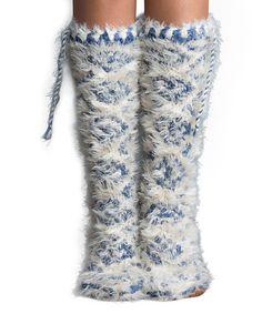Love this Haze Shaggy Mukluk Slipper Socks on #zulily! #zulilyfinds