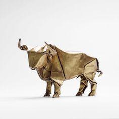 Golden Origami Bull Shot By Simonandkim Kimsokola