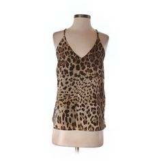 Pre-owned Lavender Brown Tank Top Size 0: Brown Women's Tops ($20) ❤ liked on Polyvore featuring tops, brown, lavender brown, brown tank top, brown tops and brown tank