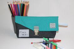 Trousse à Crayons / Trousse d'écolier Personnalisable #8 : Ecole et loisirs par les-p-tites-coutures