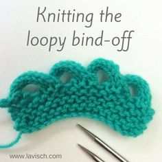 tutorial: knitting the loopy bind-off