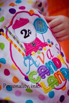 Personalized Girl's Boutique Candyland Birthday by personalityink, $22.95