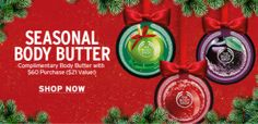 THE BODY SHOP: B3G3 FREE, FREE Body Butter, and 8% Cash Back w/ Ebates!