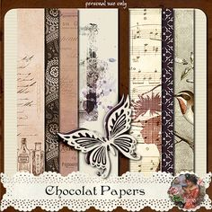 juno Chocolat Papers Preview: Free Digital Kit