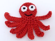 Crochet applique 1 red crochet applique by MyfanwysAppliques