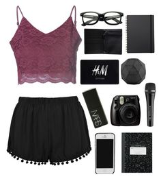 """""""~ I couldn't believe it ~"""" by hungergamesforever ❤ liked on Polyvore featuring beauty, Glamorous, H&M, Monki, NARS Cosmetics, Fujifilm, House Doctor, Muji and Sennheiser"""