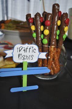 Edible traffic lights at a Transportation Party #transportation #party