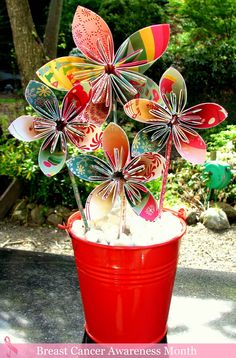 paper flowers - fun and pretty!