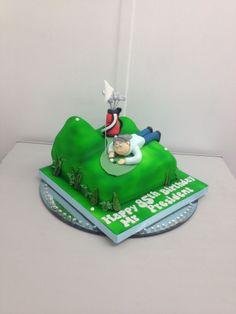Golf cake. Hole In One, Fondant Cakes, Golf Cakes, Desserts, Profile, Posts, Website, Tailgate Desserts, User Profile