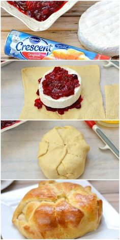 Brie Baked Cheese Appetizer Recipe Cranberry baked brie cheese is a delicious baked cheese appetizer perfect for holiday parties!Cranberry baked brie cheese is a delicious baked cheese appetizer perfect for holiday parties! Snacks Für Party, Appetizers For Party, Easy Christmas Appetizers, Christmas Meal Ideas, Christmas Desserts, Easy Snacks, Holiday Appetizers Christmas Parties, Diy Christmas, Southern Appetizers