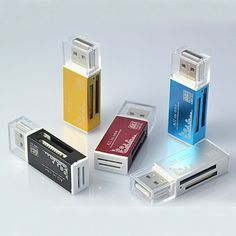 All in One Card Reader Multi for SD SDHC MMC RS MMC TF Micro SD MS Random Color