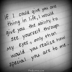 You don't realize how different you are. I see more than just my best friend. I just wish you could too....
