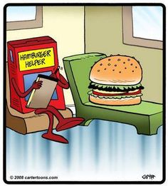 food and therapy humor Hamburger Helper, Nutrition Education, Nutrition Month, Nutrition Tips, Funny Cartoons, Funny Jokes, Memes Humor, Psych Memes, Cartoon Humor