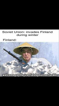 Soviet Union invades Findland Novemeber - History Memes - - Soviet Union invades Findland Novemeber The post Soviet Union invades Findland Novemeber appeared first on Gag Dad. Bad Memes, Dankest Memes, Funny Memes, Hilarious, Military Memes, History Memes, Me Too Meme, Offensive Memes, Animal Memes