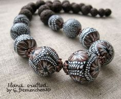 Necklace by G. Pemenchenko, polymer clay.