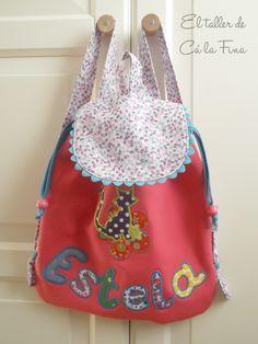 Mochila de guardería personalizada para Estela #mochilasdeguarderia #mochilaspersonalizadas #mochilasinfantiles