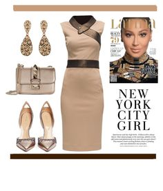 """New York City Girl"" by conch-lady ❤ liked on Polyvore featuring Sergio Rossi, Lattori, Valentino, Oscar de la Renta and H&M"