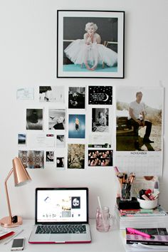 yeahcutebedrooms: katherinebibiana: My desk area is pretty fab. Cute rooms here!