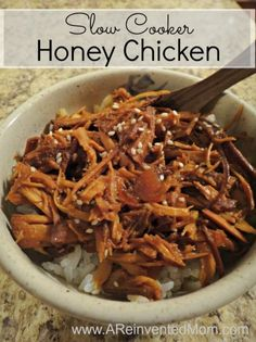 Slow Cooker Honey Chicken - A Reinvented Mom