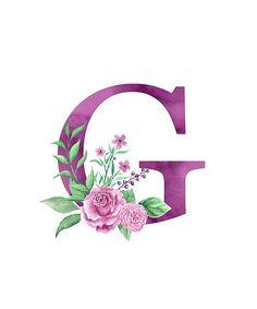 'Monogram G Lovely Rose Bouquet' Poster by floralmonogram Alphabet Letters Design, Alphabet Art, Monogram Alphabet, Monogram Wallpaper, Alphabet Wallpaper, Monogram Design, Lettering Design, Wallpaper Backgrounds, Iphone Wallpaper