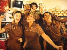 Is it bad I want my uniform for taco bell to look like this . Its feminine and cute!