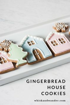 Make these adorable gingerbread house cookies usin…