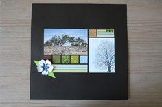 scrapbooking page arbre fleur