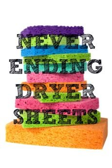 I am sure you're probably familiar with our homemade laundry detergent, so we figured we would show you a simple way to make never ending dryer sheets.