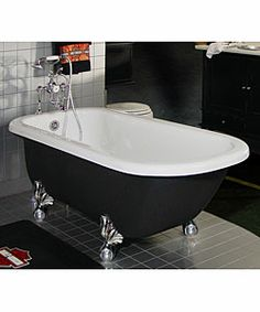 Custom Painted Maverick Clawfoot Bathtub --would look cool in my brothers home! @Tammy Bertrand!
