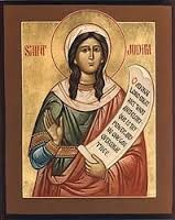 June 25th - Blessed Jutta of Thuringia: About the year 1260, not long before her death, Jutta lived near the non-Christians in eastern Germany. There she built a small hermitage and prayed unceasingly for their conversion. She has been venerated for centuries as the special patron of Prussia.