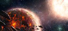 Planeta Char desde el espacio