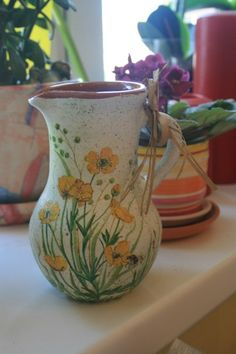 clay jug for cream