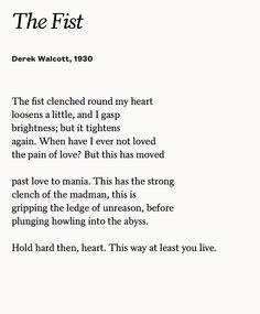 the fist derek walcott