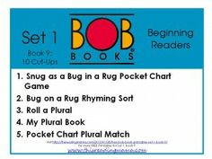 FREE BOB Book Printables: Set 1, Book 9 (10 Cut-Ups) - This Reading Mama