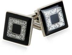 Black and Silver Concentric Diamond Dust Cufflinks by Cuff-Daddy Cuff-Daddy,http://www.amazon.com/dp/B007ZX12DY/ref=cm_sw_r_pi_dp_A0cftb1YGRK8F988