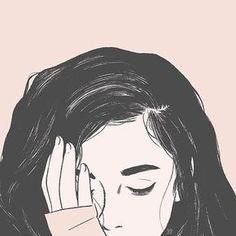 Pin by swati on cartoonist diy siluet, menggambar rambut, ga Sad Sketches, Girl Drawing Sketches, Girl Sketch, Art Drawings, Sad Girl Drawing, Hipster Drawings, Couple Drawings, Sketch Art, Manga Drawing