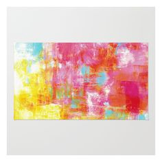 Off The Grid 2 Colorful Pink Pastel Neon Abstract … Rug ($28) ❤ liked on Polyvore featuring home, rugs, multi colored rugs, multi color rug, non skid rugs, machine washable area rugs and pink chevron rug