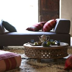 Carved Wood Coffee Table | West Elm