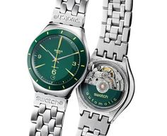 Swatch Big Automatic Green Sky