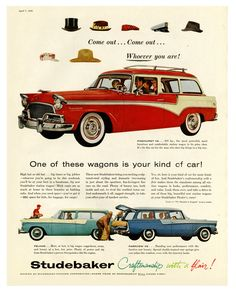 1956 Studebaker station wagons  - in honor of Dr. Paul Malon (1958-2015)
